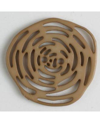 Polyamidknopf unrund, mit vielen länglichen Löchern, 2-loch - Größe: 40mm - Farbe: beige - Art.Nr. 406619