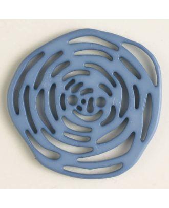 Polyamidknopf unrund, mit vielen länglichen Löchern, 2-loch - Größe: 40mm - Farbe: blau - Art.Nr. 406621