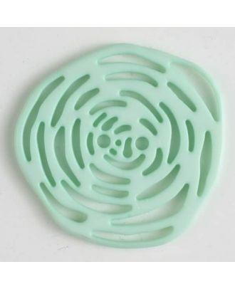 Polyamidknopf unrund, mit vielen länglichen Löchern, 2-loch - Größe: 40mm - Farbe: grün - Art.Nr. 406623