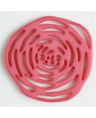 Polyamidknopf unrund, mit vielen länglichen Löchern, 2-loch - Größe: 40mm - Farbe: pink - Art.Nr. 406624