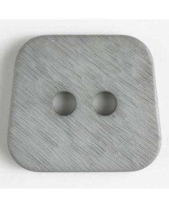 Polyamidknopf, aufgerauhte Oberfläche, mit abgerundeten Ecken, 2-loch - Größe: 23mm - Farbe: grau - Art.Nr. 316628