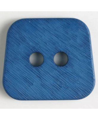 Polyamidknopf, aufgerauhte Oberfläche, mit abgerundeten Ecken, 2-loch - Größe: 23mm - Farbe: blau - Art.Nr. 316631