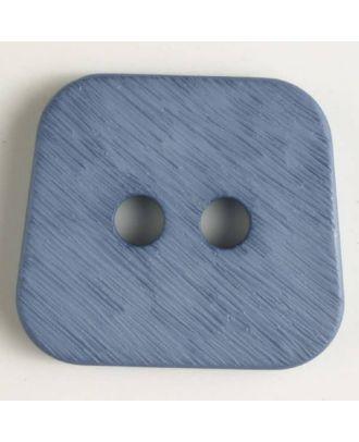 Polyamidknopf, aufgerauhte Oberfläche, mit abgerundeten Ecken, 2-loch - Größe: 23mm - Farbe: blau - Art.Nr. 316632