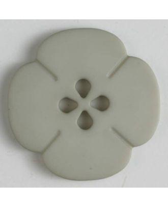 Kunststoffknopf Blume mit 2 Löchern - Größe: 20mm - Farbe: beige - Art.Nr. 264610