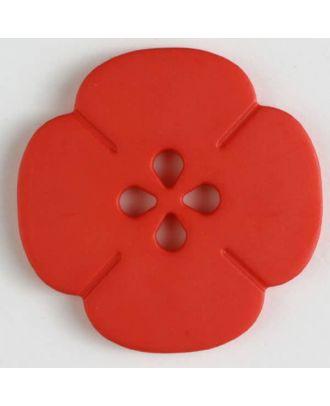 Kunststoffknopf Blume mit 2 Löchern - Größe: 20mm - Farbe: rot - Art.Nr. 261179