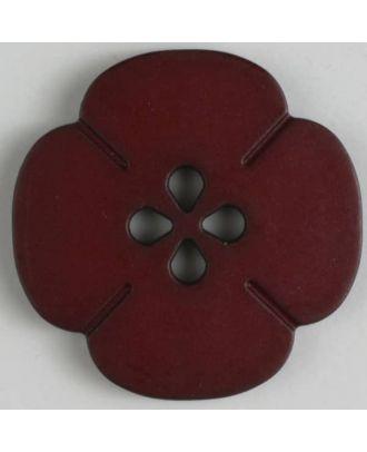 Kunststoffknopf Blume mit 2 Löchern - Größe: 25mm - Farbe: rot - Art.Nr. 314616