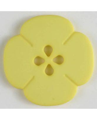 Kunststoffknopf Blume mit 2 Löchern - Größe: 20mm - Farbe: gelb - Art.Nr. 264617