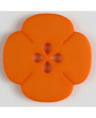 Kunststoffknopf Blume mit 2 Löchern - Größe: 20mm - Farbe: orange - Art.Nr. 264618