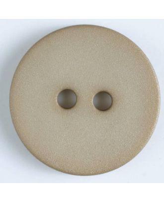 Polyamidknopf schlicht mit angerauter Oberfläche mit 2 Löchern -  Größe: 20mm - Farbe: beige - Art.Nr. 267601
