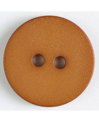 Polyamidknopf schlicht mit angerauter Oberfläche mit 2 Löchern -  Größe: 20mm - Farbe: beige - Art.Nr. 267602