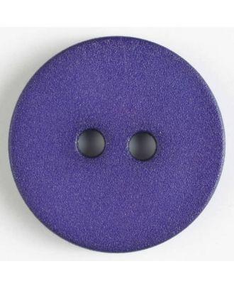 Polyamidknopf schlicht mit angerauter Oberfläche mit 2 Löchern - Größe: 20mm - Farbe: lila - Art.Nr. 267605
