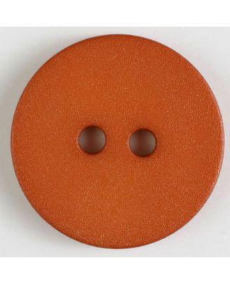 Polyamidknopf schlicht mit angerauter Oberfläche mit 2 Löchern -  Größe: 20mm - Farbe: orange - Art.Nr. 267608