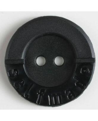 Polyamidknopf 2-loch Selfmade - Größe: 36mm - Farbe: schwarz - Art.Nr. 370557