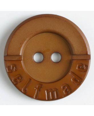 Polyamidknopf 2-loch Selfmade - Größe: 36mm - Farbe: braun - Art.Nr. 375610