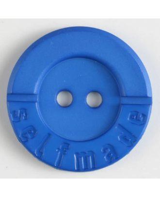 Polyamidknopf 2-loch Selfmade - Größe: 36mm - Farbe: blau - Art.Nr. 375612