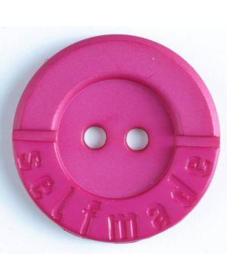 Polyamidknopf 2-loch Selfmade - Größe: 36mm - Farbe: pink - Art.Nr. 375615