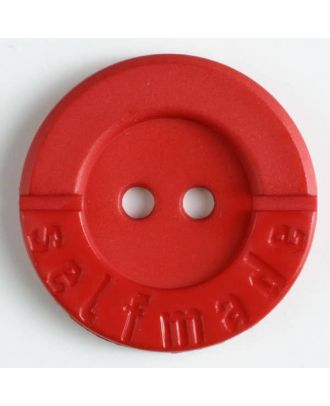 Polyamidknopf 2-loch Selfmade - Größe: 36mm - Farbe: rot - Art.Nr. 370558