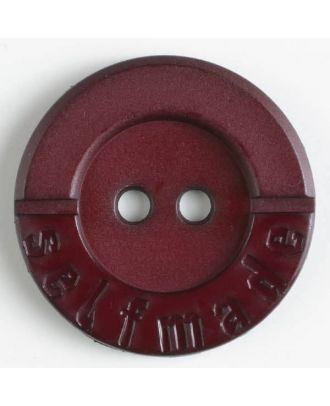 Polyamidknopf 2-loch Selfmade - Größe: 36mm - Farbe: weinrot - Art.Nr. 375616