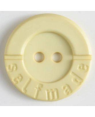 Polyamidknopf 2-loch Selfmade - Größe: 36mm - Farbe: gelb - Art.Nr. 375617