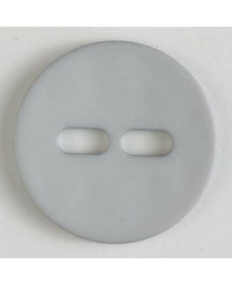 Polyamidknopf schlicht mit 2 ovalen Knopflöchern - Größe: 28mm - Farbe: grau - Art.Nr. 347609
