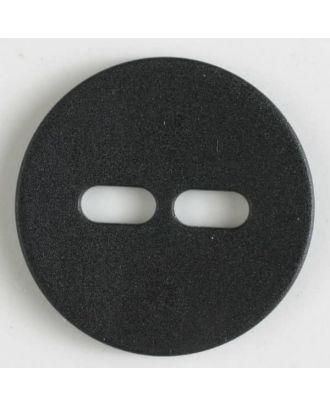Polyamidknopf schlicht mit 2 ovalen Knopflöchern - Größe: 28mm - Farbe: schwarz - Art.Nr. 341059