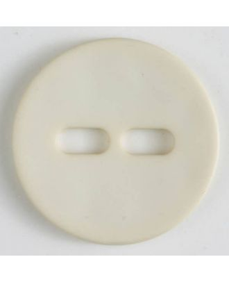 Polyamidknopf schlicht mit 2 ovalen Knopflöchern -  Größe: 28mm - Farbe: beige - Art.Nr. 347610
