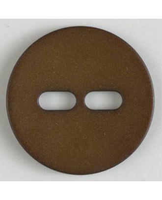 Polyamidknopf schlicht mit 2 ovalen Knopflöchern - Größe: 28mm - Farbe: braun - Art.Nr. 347611
