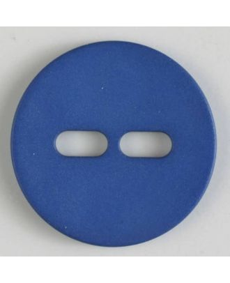 Polyamidknopf schlicht mit 2 ovalen Knopflöchern - Größe: 38mm - Farbe: blau - Art.Nr. 377612