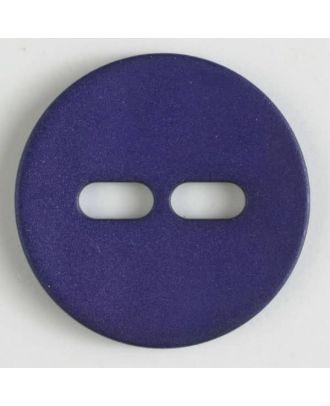 Polyamidknopf schlicht mit 2 ovalen Knopflöchern -  Größe: 28mm - Farbe: lila - Art.Nr. 347613