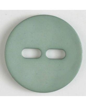 Polyamidknopf schlicht mit 2 ovalen Knopflöchern - Größe: 38mm - Farbe: grün - Art.Nr. 377614