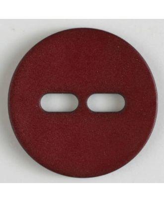 Polyamidknopf schlicht mit 2 ovalen Knopflöchern - Größe: 38mm - Farbe: weinrot - Art.Nr. 377615