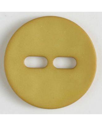 Polyamidknopf schlicht mit 2 ovalen Knopflöchern -  Größe: 28mm - Farbe: gelb - Art.Nr. 347616