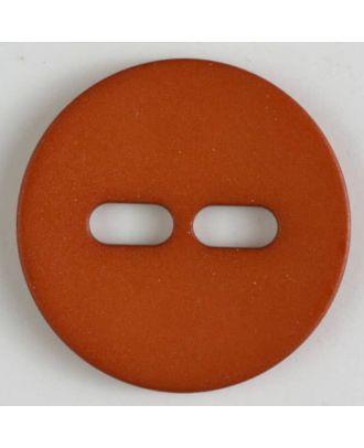 Polyamidknopf schlicht mit 2 ovalen Knopflöchern - Größe: 38mm - Farbe: orange - Art.Nr. 377617