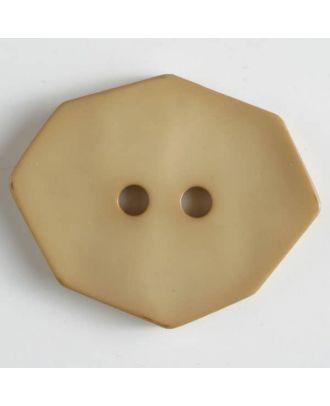 Polyamidknopf achteckig, 2-loch - Größe: 50mm - Farbe: beige - Art.Nr. 450152