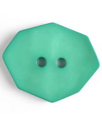 Polyamidknopf achteckig, 2-loch - Größe: 50mm - Farbe: grün - Art.Nr. 450155
