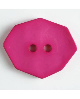 Polyamidknopf achteckig, 2-loch - Größe: 50mm - Farbe: pink - Art.Nr. 450156