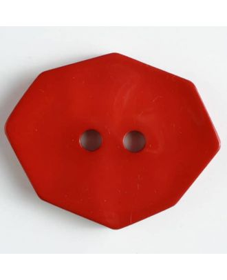 Polyamidknopf achteckig, 2-loch - Größe: 50mm - Farbe: rot - Art.Nr. 450157