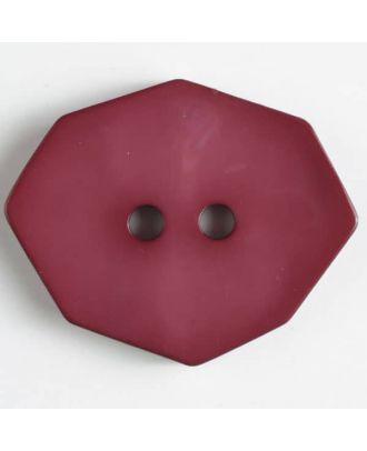 Polyamidknopf achteckig, 2-loch - Größe: 50mm - Farbe: weinrot - Art.Nr. 450158