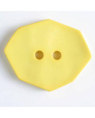 Polyamidknopf achteckig, , 2-loch - Größe: 50mm - Farbe: gelb - Art.Nr. 450159