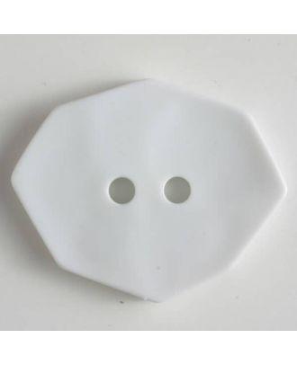 Polyamidknopf achteckig, 2-loch - Größe: 50mm - Farbe: weiss - Art.Nr. 450150