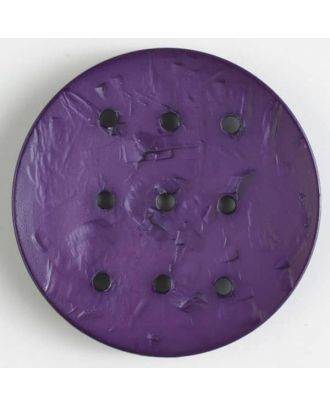 Polyamidknopf rund mit 9 Löchern zur Individualisierung mit Garn - Größe: 45mm - Farbe: lila - Art.Nr. 390290