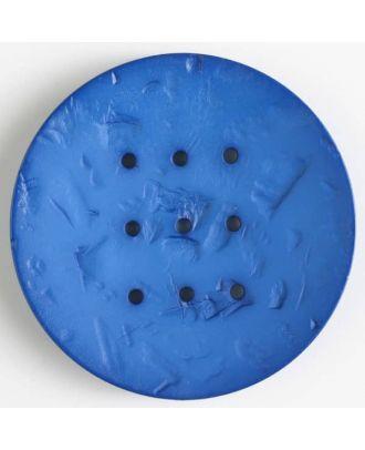 Polyamidknopf rund mit 9 Löchern zum Individualisieren mit Garn -Größe: 60mm - Farbe: blau - Art.Nr. 410197