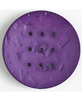 Polyamidknopf rund mit 9 Löchern zum Individualisieren mit Garn -Größe: 60mm - Farbe: lila - Art.Nr. 410198