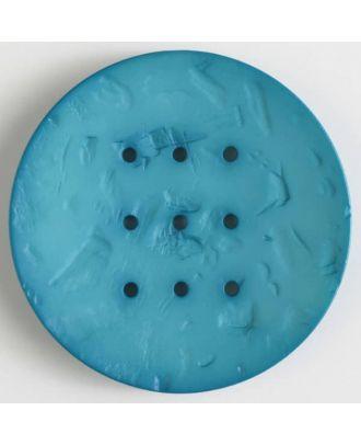 Polyamidknopf mit 9 Löchern zum Individualisieren mit Garn -Größe: 60mm - Farbe: grün - Art.Nr. 410199