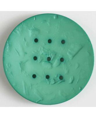 Polyamidknopf rund mit 9 Löchern zum Individualisieren mit Garn - Größe: 60mm - Farbe: grün - Art.Nr. 410200