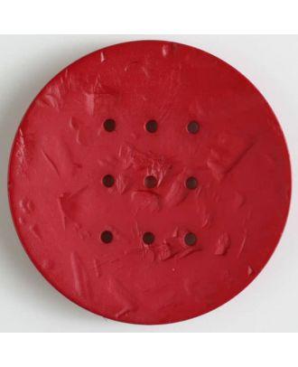 Polyamidknopf rund mit 9 Löchern zum Individualisieren mit Garn - Größe: 60mm - Farbe: rot - Art.Nr. 410201