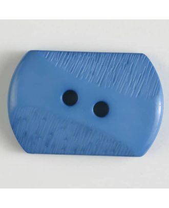 Polyamidknopf mit teilweise schrägen Rillen mit 2 Löchern - Größe: 34mm - Farbe: blau - Art.Nr. 377604