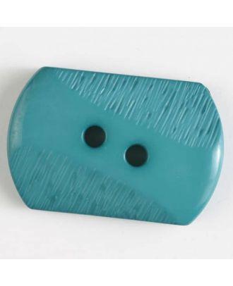 Polyamidknopf mit teilweise schrägen Rillen mit 2 Löchern - Größe: 34mm - Farbe: grün - Art.Nr. 377606