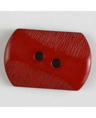 Polyamidknopf mit teilweise schrägen Rillen mit 2 Löchern - Größe: 25mm - Farbe: orange - Art.Nr. 317607