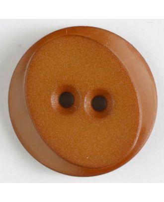Polyamidknopf rund mit ovalem Einsatz mit 2 Löchern - Größe: 18mm - Farbe: beige - Art.Nr. 267618